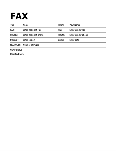 Fax Cover Page Template from humblefax.com